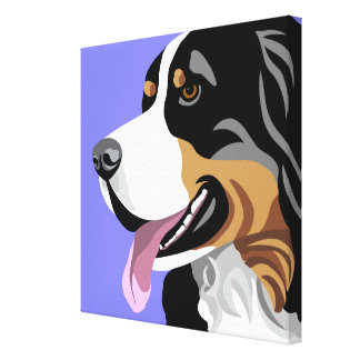Bernese Mountain Dog Art Canvas Print