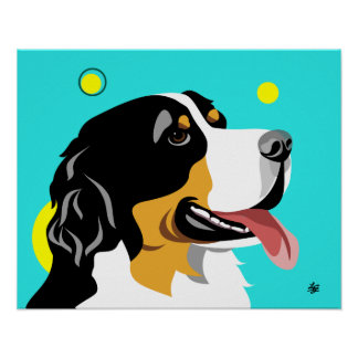 Bernese Mountain Dog Art Poster