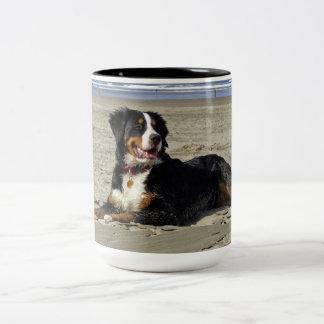 Bernese Mountain dog beautiful photo two tone mug