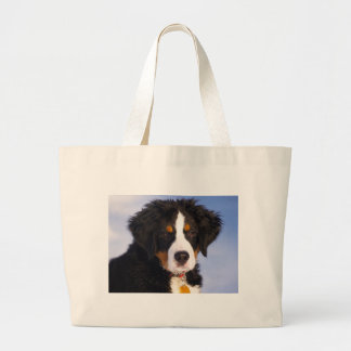 Bernese Mountain Dog - Cute Puppy Photo Large Tote Bag
