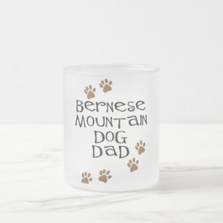 Bernese Mountain Dog Dad Frosted Glass Coffee Mug