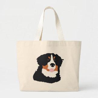 Bernese Mountain Dog Large Tote Bag