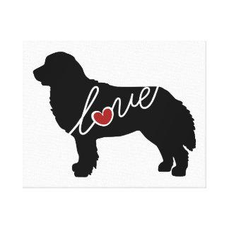 Bernese Mountain Dog Love Canvas Print