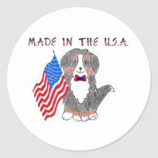 Bernese Mountain Dog Made In The USA Sticker
