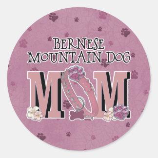 Bernese Mountain Dog MOM Classic Round Sticker