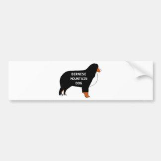 Bernese Mountain Dog name silhouette rust Bumper Sticker