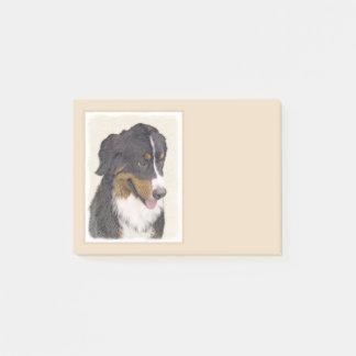 Bernese Mountain Dog Painting - Original Dog Art Post-it Notes