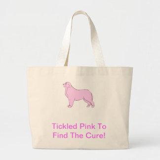 Bernese Mountain Dog Pink Dog Large Tote Bag