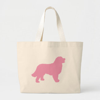 Bernese Mountain Dog (pink silhouette) Large Tote Bag