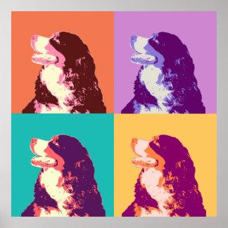 Bernese Mountain Dog Pop Art Poster