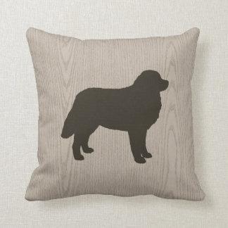 Bernese Mountain Dog Silhouette Cushion