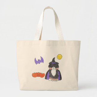 Bernese Mountain Dog Witch Tote Bag