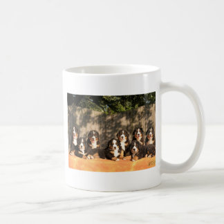 Bernese puppies coffee mug