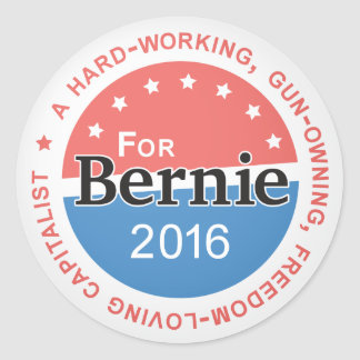 Bernie 2016 classic round sticker