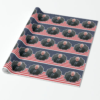 bernie sanders flag wrapping paper
