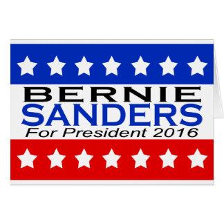 Bernie Sanders for President 2016 Campaign Card