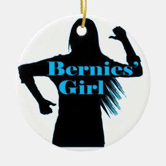Bernies Girl Bernie Sanders Round Ceramic Decoration