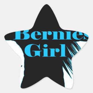 Bernies Girl Bernie Sanders Star Sticker