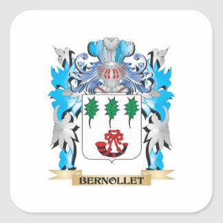 Bernollet Coat of Arms Square Sticker