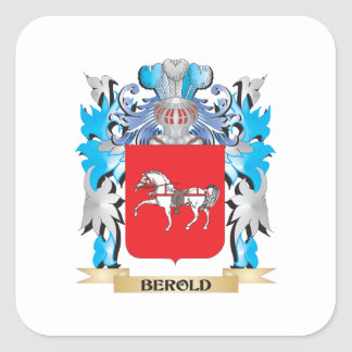 Berold Coat of Arms Square Sticker