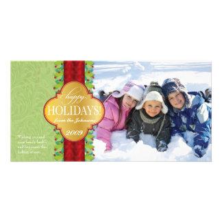 Berry Band Holiday Horizontal - Green Photo Cards