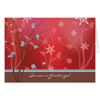Berry Branch Holiday Card - Red