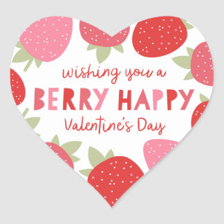 Berry Cute Valentine Heart Sticker