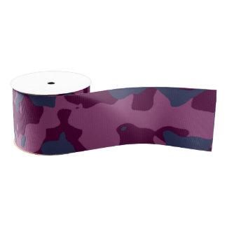 Berry Pretty Camouflage Grosgrain Ribbon