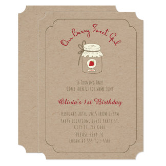 Berry Sweet Birthday Party Invitations