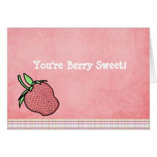 Berry Sweet Folded Notecard