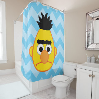 Bert Angry Face Shower Curtain