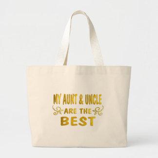 Best Aunt & Uncle Large Tote Bag