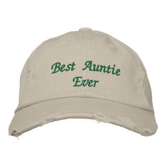 Best Auntie Ever Distressed Baseball Cap