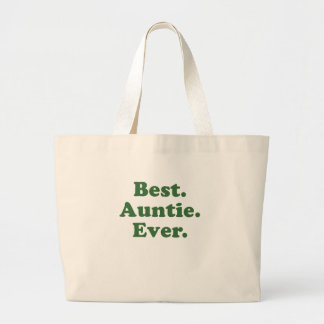 Best Auntie Ever Large Tote Bag