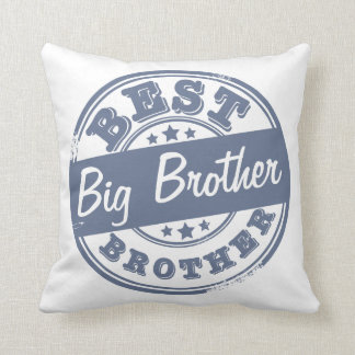 Best Big Brother - rubber stamp effect - Cushion