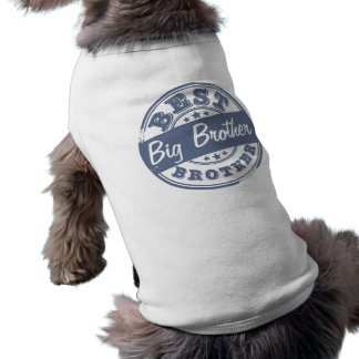 Best Big Brother - rubber stamp effect - Sleeveless Dog Shirt