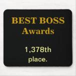 Best Boss Awards Practical Joke Rude Funny Insult Mousepads