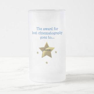 Best Cinematography Award-James Frosted Glass Beer Mug