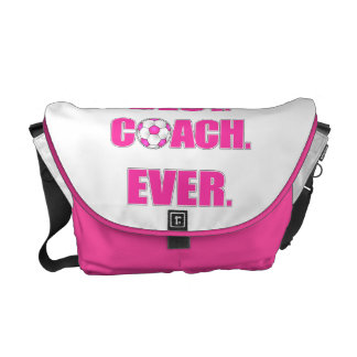 Best. Coach. Ever. Pink Courier Bags