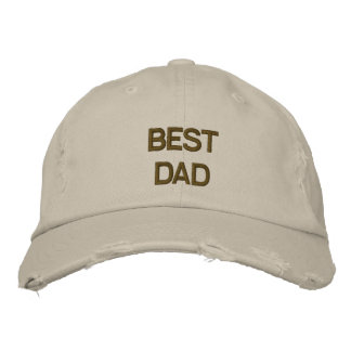 Best Dad Embroidered  Chino Twill Cap Embroidered Hats