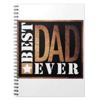 Best Dad Ever Grunge Series Spiral Note Book