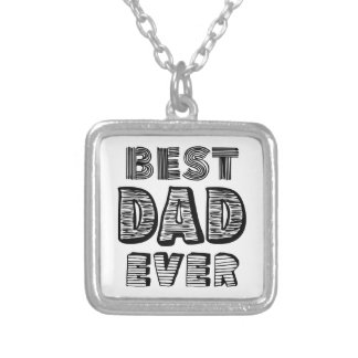Best Dad Ever Silver Plated Necklace