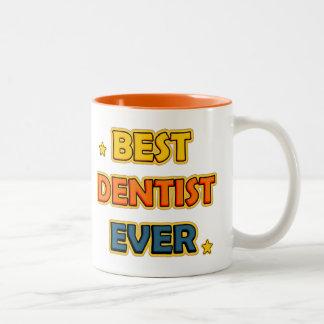 Best Dentist ever Two-Tone Coffee Mug