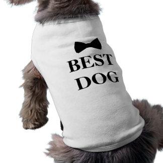 Best Dog Best Man Wedding Black Bowtie Sleeveless Dog Shirt