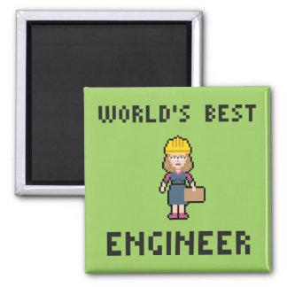 Best Female Engineer Square Magnet