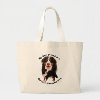 Best Friend Bernese Mountain Dog Large Tote Bag
