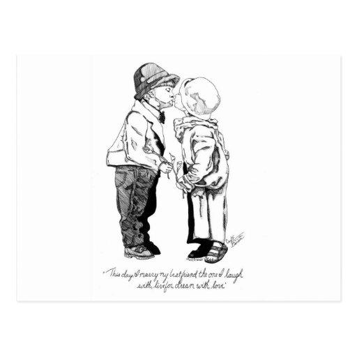 Best Friends Post Card