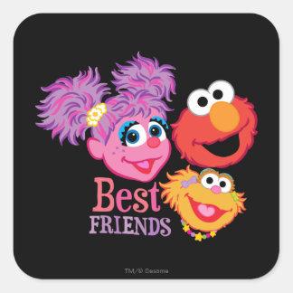 Best Friends Sesame Street Square Sticker