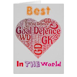 Best Goal Defence Love Netball Card