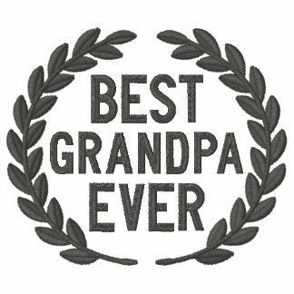 Best Grandpa Ever All Star Laurels Embroidery Polos
